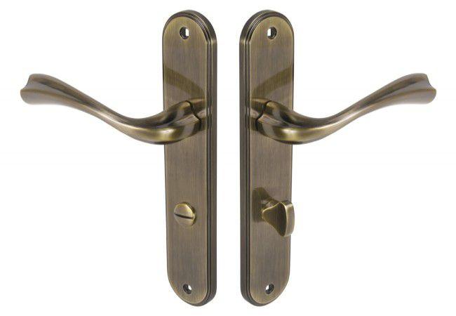 Klamka drzwiowa INFINITY GLORIA 72 WC patyna