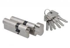Kpl. wkładek nr. 3 B-Harko H6 30/45+30g/45 nikiel satyna 6-zastawkowa kl 6.0, 6 kluczy