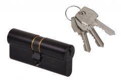 Wkładka bębenkowa AGB 35/45, czarna, system jednego klucza
