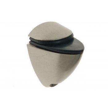 Podpórka półki szklanej 41 nikiel  /satyna (40x25, gr.szyby do 10 mm)