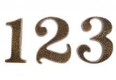 Cyfra TIFFANY 18 cm patyna tekstura