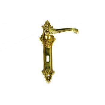 Klamka mosiężna  STYLOWA 90 klucz
