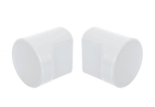 Gałka(2szt) do zabudowy WC biała