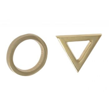 Oznaczenie WC ZNAKI mosiądz (koło/trójkąt) samoprzylepne
