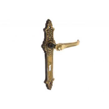 Klamka patyna STYLOWA 72 klucz