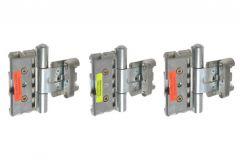 Zawias BAKA PROTECT 3D ocynk (3szt.) (do drzwi z uszczelką w ościeżnicy), drzwi przylgowe