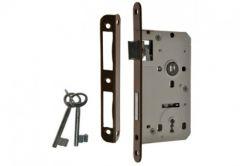 Zamek wpuszczany 60/50 klucz,  z dźwignią i 2 kluczami