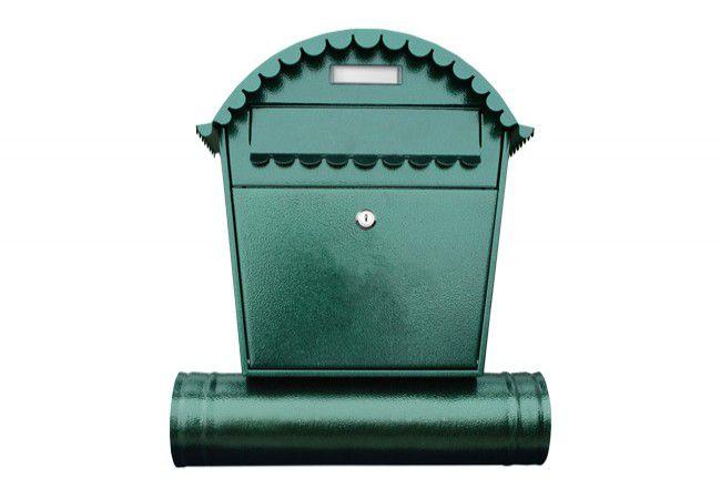 Skrzynka na listy 1 RS z tuba zieleń antyczna