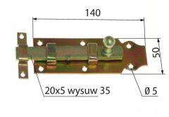 Zasuwka prosta L-140 mm (115401 3150254)