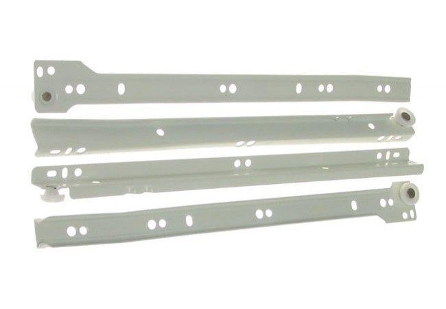 Prowadnica rolkowa do szuflad PR-1011-250 biała