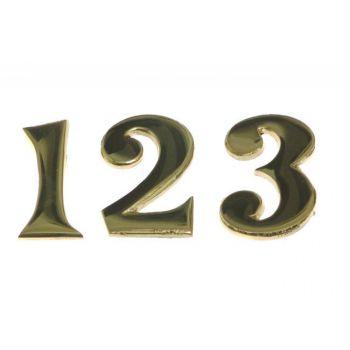 Cyfry mosiężne przybijane na gwoździki 7 cm