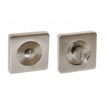 Szyld kwadratowy WC nikiel satyna (DUBAI)