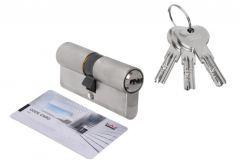 Wkładka bębenkowa DORMA DEC 261 30/70, nikiel 3 klucze, (atest kl. 6.2 C), bezpieczne sprzęgło