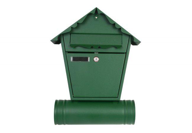 Skrzynka na listy 1 KR z tubą zieleń (RAL 6005)