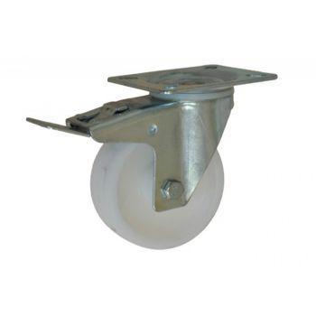 Kółko CKPW-PPB 100S-HC skrętne z hamulcem z poliamidu ( nośność do 200 kg )