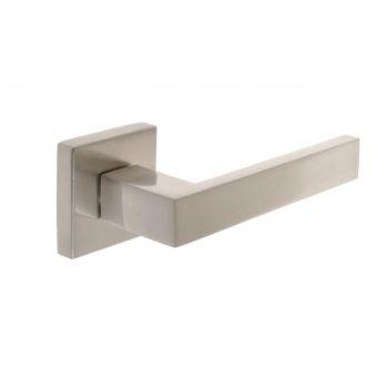 Klamka drzwiowa INFINITY MAXIM z t/kwadratową satyna
