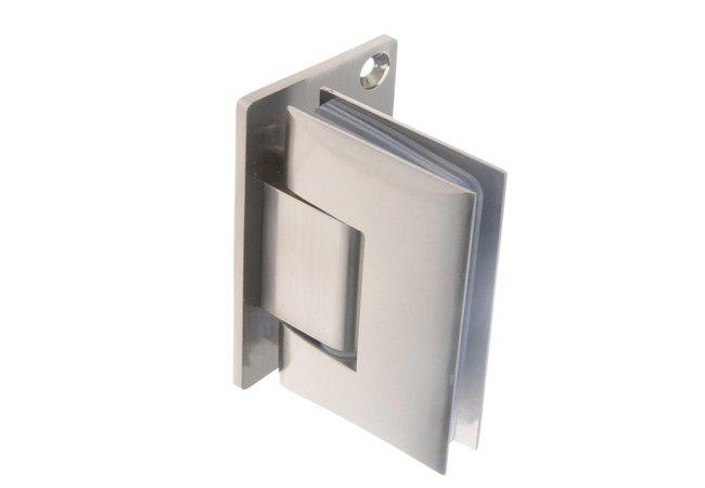 Zawias do kabin prysznicowych ściana-szkło TD-68G-1 90 stopni 8-12 mm mosiężny satynowany, z przesunięciem (równo zlicowany)