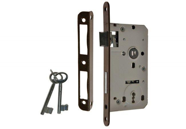 Zamek wpuszczany 72/60 klucz, z dźwignią i 2 kluczami