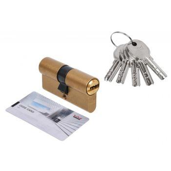 Wkładka bębenkowa DORMA DEC 260 40/50, mosiądz,  5 kluczy, (atest kl. 5.1 B)