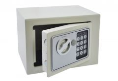 Sejf Home z zamkiem elektronicznym (230x170x170 mm), biały