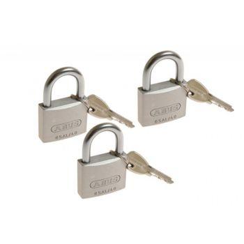 3 Kłódki Abus titalium 40 mm na jeden klucz, 4 kluczy w kpl