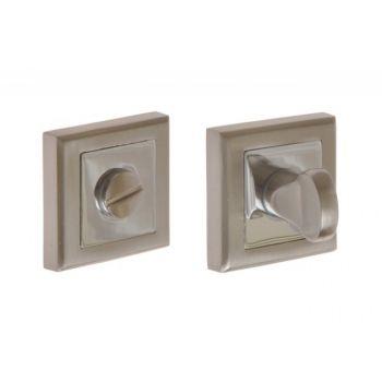 Tarczka kwadratowa WC nikiel-satyna/chrom (ABIES, CELTIS, HALESIA)