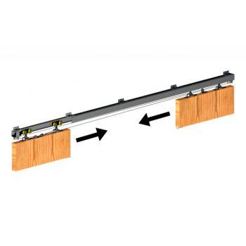 Mechanizm jednoczesnego przesuwu 2 drzwi Symetric (kpl)