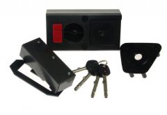 Zamek Gerda TYTAN ZE-1 WP grafit z elem.mocującymi, 4 klucze, atest kl. C,( do prawych drzwi otwieranych do wewnątrz)