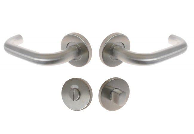 Klamka DORMA PURE 8100/6501/7122  p.poz. szyld okrągły WC znacznik, kwadrat 8 mm.