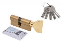 Wkładka bębenkowa DORMA DEC 260 35G/35,  z gałką trójkątną mosiądz,  5 kluczy, (atest kl. 5.1 B)