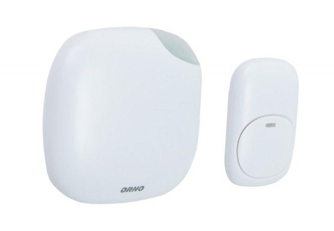Dzwonek bezprzewodowy ORNO LOGICO AC, 230V z learning system i funkcją alarmu