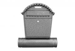 Skrzynka na listy 1 RS z tubą srebro antyczna