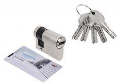 Wkładka bębenkowa DORMA DEC 260 10/30, nikiel,  5 kluczy, (atest kl. 5.1 B) z ustawianym zabierakiem