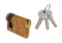 Wkładka bębenkowa DORMA DEC 150 10/30, mosiądz 3 klucze