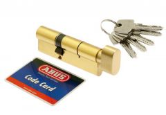 Wkładka bębenkowa Abus KD10 35g/40 mosiądz z gałką kl 5.2
