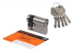 Wkładka bębenkowa LOBIX WNP102 9/40 nikiel mat przestawiany zabierak 5 kluczy kl.6.2 C