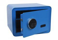 Sejf Office RC-350 z zamkiem elektronicznym (350x280x250 mm) zaokrąglony, niebieski