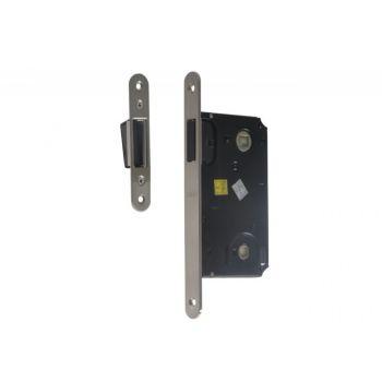 Zamek TUPAI 2869 36 WC magnetyczny 90/50 WC z blachą zaczepową regulowaną satyna