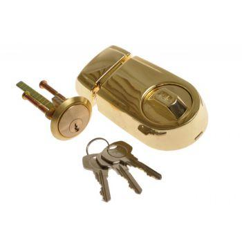 Zamek wierzchni YALE Y2T mosiądz klucz nacinany