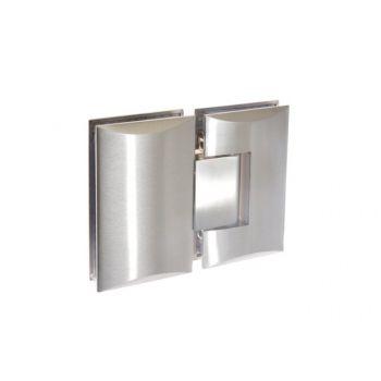 Zawias do kabin prysznicowych szkło-szkło TD-68G-3 180 stopni 8-12 mm mosiężny satynowany