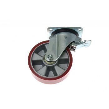Kółko KPM-ALPU 160K-HC skrętne z hamulcem (nośność do 500kg)