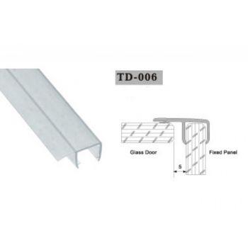 Uszczelka do kabin prysznicowych TD-006 10 mm 2,2 mb(US-HR-007)