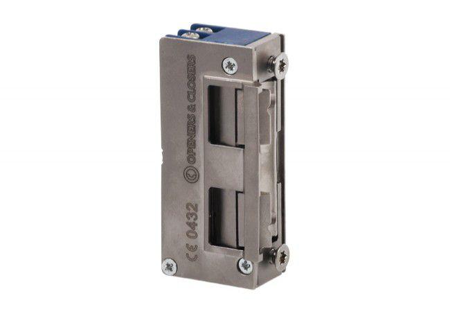 Elektrozaczep Open&Closers 9-24V AC/DC przeciwpożarowy+wyślizg