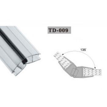 Uszczelka magnetyczna do kabin prysznicowych TD-009 10 mm 2,2 mb(US-HR-013)