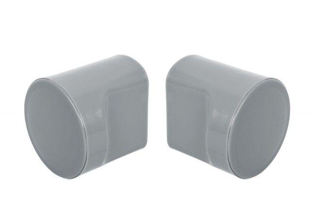 Gałka(2szt) do zabudowy WC szara