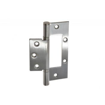 Zawias szczelinowy do drzwi bezprzylgowych, prosty 100x78, fi 6x2,5 mm stal nierdzewna SUS202