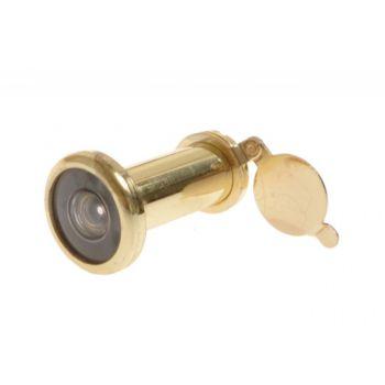 Wizjer drzwiowy fi 16 60-100 mm mosiądz kąt widzenia 200 stopni