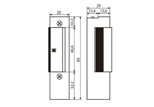 Zamek elektromagnetyczny JiS 840 / 843 12VAC/DC z blokadą i pamięcią, bez regulacji języka(ZP-LO-286)