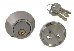 Wkładka drzwiowa z rozetą i pokrętłem nikiel do zamka WK ZG