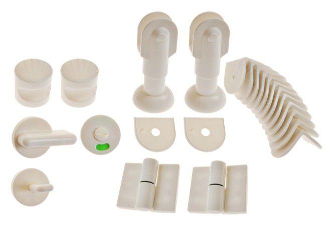 Zabudowa toalet  WC biała prawa KPL gr.płyty 12-18 mm materiał polipropylen